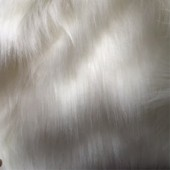 white long-pile faux fur G-32