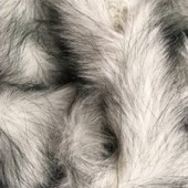 Gray-white (arctic fox) long-pile faux fur G-71