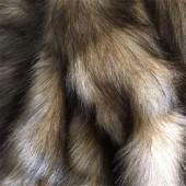 Melange (raccoon) artificial long-pile fur G-43
