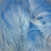 Blue with white tips faux long-pile fur ip-212