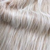 Beige with white pile faux long-pile fur id-52