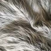 Gray with white pile faux long-pile fur id-61