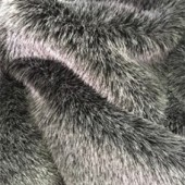 Black ashfaux fur H-60