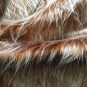 Light brown faux long-pile fur ip-2703